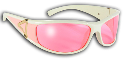 Pacific Coast Sunglasses Bike Chix Eternity Sunglasses White Frame with Pink Lenses