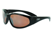 Hercules Sunglasses DRM with Copper Driving Mirror Lenses by Global Vision Eyewear