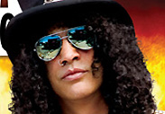 Slash from Guns and Roses wearing our colored lens aviator sunglasses