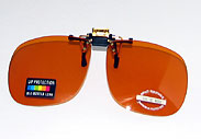 Blue-Buster Lens Clip-On Sunglasses
