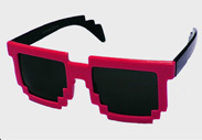 Pink Minecraft Fashion Sunglasses