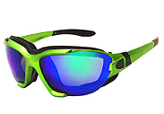 Metallic Green Padded Motorcycle Sunglasses