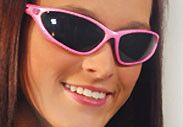 pink padded womens motorcycle sunglasses