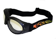 Flamed Motorcycle Goggles, goggles with flamnes