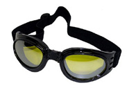 Yellow lens goggles that fold up