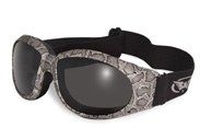Goggles with Snakeskin Pattern