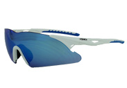 Blue revo lens Lens Transport ANSI Z87.1 Sports Safety Glasses by global vision eyewear